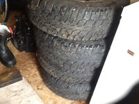 4 winter tires and rim,215-70-16