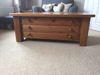 Wooden Coffee Table Plan Chest
