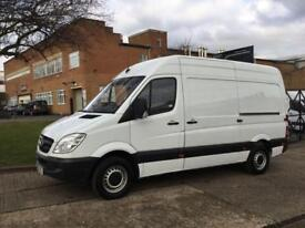 2013 63 MERCEDES-BENZ SPRINTER 2.1 313CDI MWB HIGH ROOF 129BHP. 1 OWNER. FSH. LO