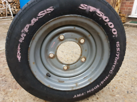 Trailer tyre and wheel