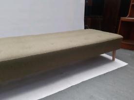 Vintage retro Danish green 50s 60s day bed sofa mid century