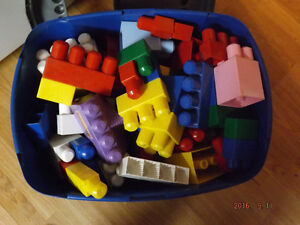 Large Lego Blocks in a Workbench Tub Kawartha Lakes Peterborough Area image 1
