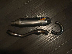 KTM PARTS//FULL FMF Ti EXHAUST FOR 13-15 KTM 250F