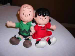 Vintage McDonalds Charlie Brown & Lucy Figures - REDUCED