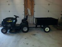 Yardworks lawn tractor and trailer @@LOOK@@