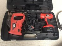 Electric drill, saw, sanders and paint remover with drill bits