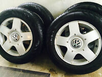 4 x VW alloy wheels with Continental ContiProContact all season
