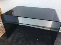 Lovely black heavy glass desk, excellent condition