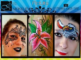 Professional Face Painting Birmingham / Walsall Body Art ☺ Face Painter ❀ Birthdays ❄ ISMAKEUP