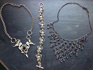 Jewellery lot, goth/medieval/Celtic style