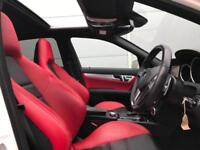 2011 61 reg Mercedes-Benz C63 AMG 6.3 Edition 125 + WHITE + RED LEATHER + Saloon