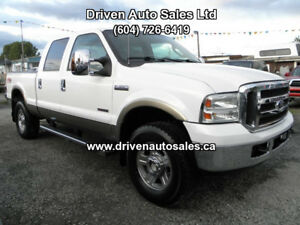 2005 Ford F-350 Lariat Leather Crew Cab 4x4 Pickup Truck