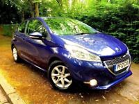 **ONE PREV OWNER** 2012 PEUGEOT 208 ACTIVE 1.4 HDI 3 DOOR MANUAL BLUE DIESEL 68 BHP