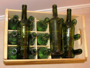 Wine Bottles and Wooden bottle box
