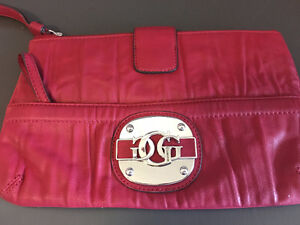 Guess Red Leather Wrist Purse