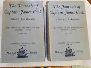 The Journals of James Cook, Volumes 1, 2, and 3 (parts 1 and 2)