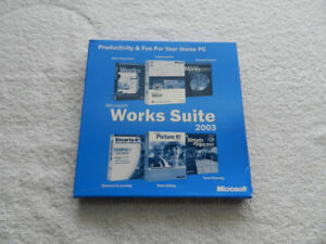 MICROSOFT WORKS SUITE 2003 COMPLETE IN BOX WITH PRODUCT KEY NR