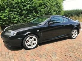HYUNDAI COUPE V6 AUTOMATIC ONLY 49,000 GENUINE MILES IN BLACK WITH BLACK LEATHER