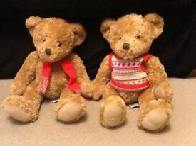 John Lewis Teddy Bears x2 (excellent condition)
