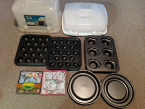 Cake decorating, pans and baking supplies lot