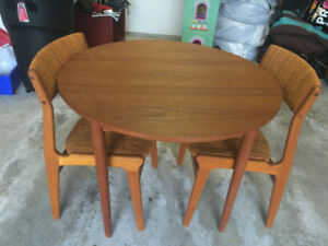 Vintage Teak Table and Chairs for Sale