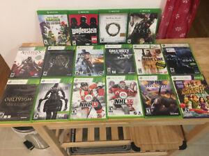 Jeux XBox One et Xbox 360 games (voir liste)