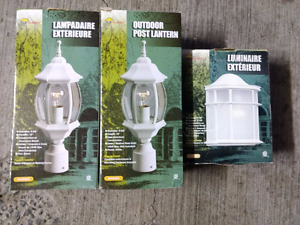 OUTDOOR POST LANTERNS AND LIGHT
