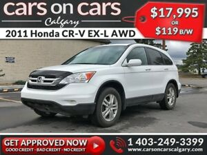 2011 Honda CR-V EX-L AWD w/Leather, Sunroof $119 B/W INSTANT APP