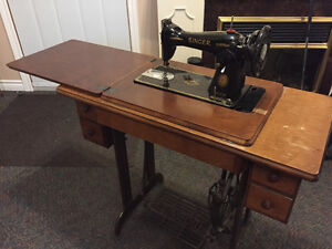 Antique Singer Treadle Sewing Machine