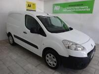 WHITE PEUGEOT PARTNER VAN 1.6HDI PROFESSIONAL L1 850 **from £124 per month**