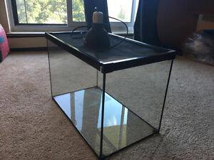 20GL Terrarium for Reptiles W/ Heating Lamp & Metal top