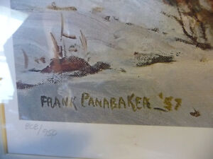 "Iconic Painting by Frank Panabaker ""Winter Storm"" 1957 Signed/Nu Stratford Kitchener Area image 6"