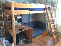 Cabin style bunk bed