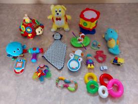 Sett of kiids toys