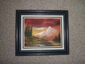 Framed Oil Painting on Canvas