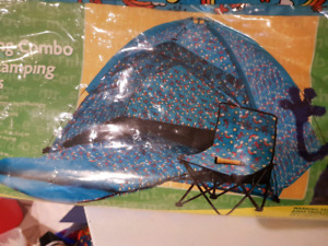 Kids indoor tent and sleeping bag