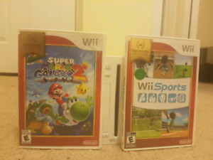 used wii that comes with super mario galaxy 2 and wii sports