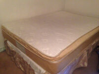 DOUBLE BED MATTRESS + Box Spring +Frame