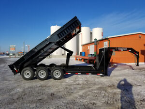 TAXES INCLUDED!! NEW TITAN 16' TRIPLE AXLE G/N DUMP TRAILER