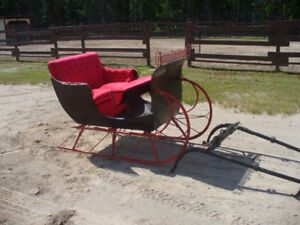voiture d'hiver pour cheval ( style ''cutter'' )