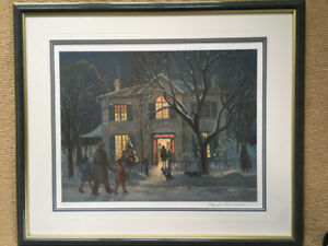 """Frank Panabaker """"Christmas Party"""" signed limited edition print"""