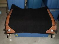 Western show saddle pad