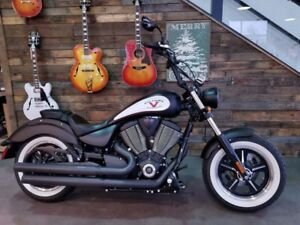 2014 Victory Motorcycles High-Ball Suede Black and White