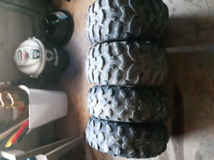 Atv tires,rims and Axel spacers for sale.
