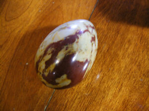 Brown and Bage Marble Egg