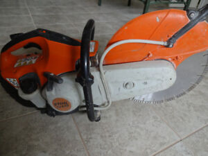 14 INCH STIHL CONCRETE SAW TS 420 WITH WATER CONNECTION