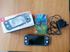Nintendo switch lite with Legend of Zelda Breath of the Wild