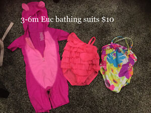 Brand new condition 3-6m bathing suits