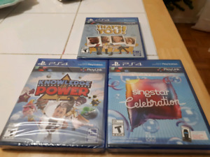 Lot of 3 PS4 GAMES,New and Sealed