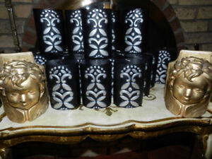 Fantastic Fireplace Decor 22 Baroque Candles+ 54 Glitter Candles